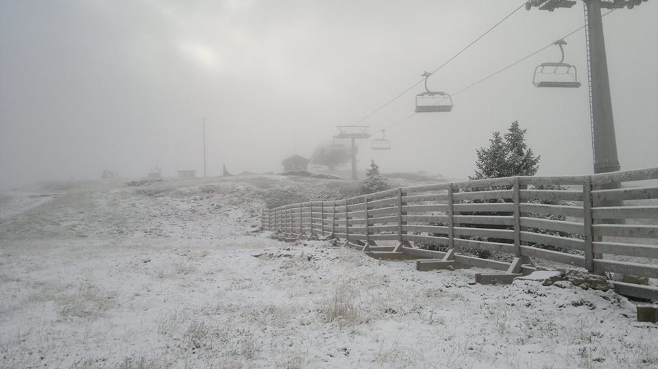First snow in the ski resort Kvitfjell came 26. september 2013