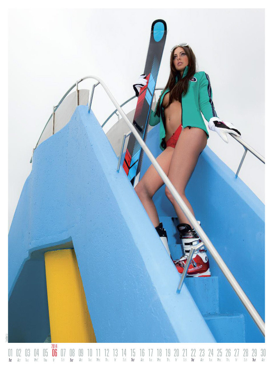 Ms June 2014 - Female Ski Instructor Calendar