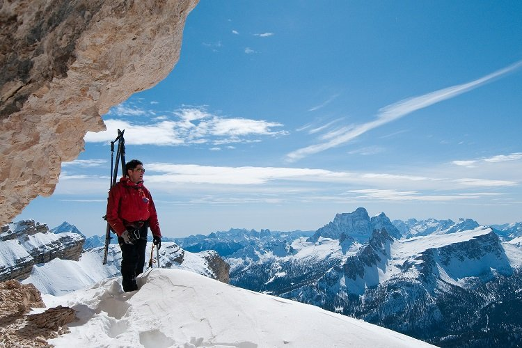 Standing at the top of the Hidden Valley, Cortina, Italy - ©Giuseppe Ghedina