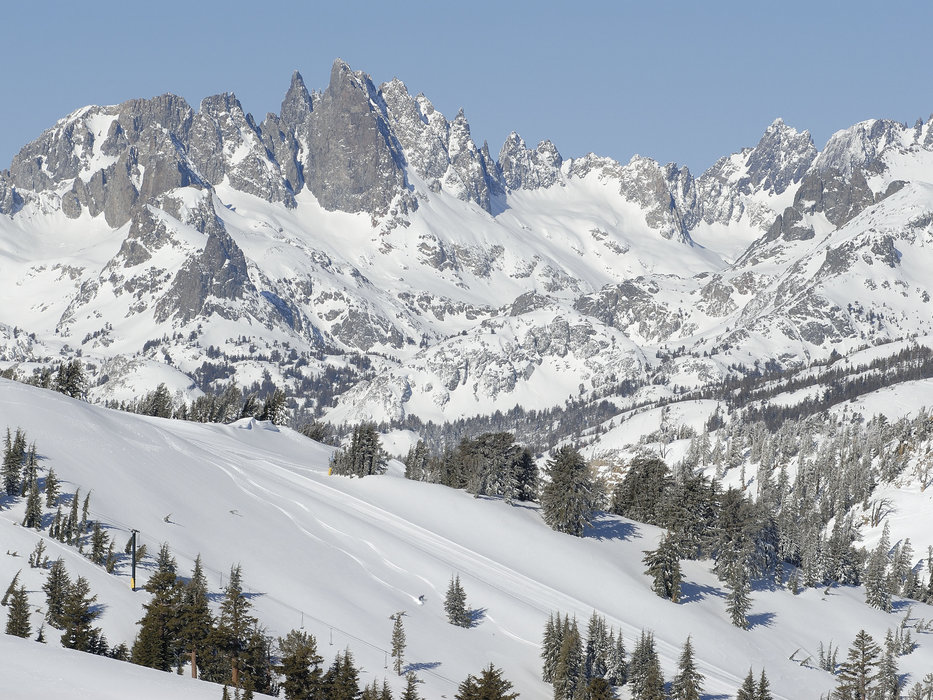 Mountain view of Mammoth Mountain, California