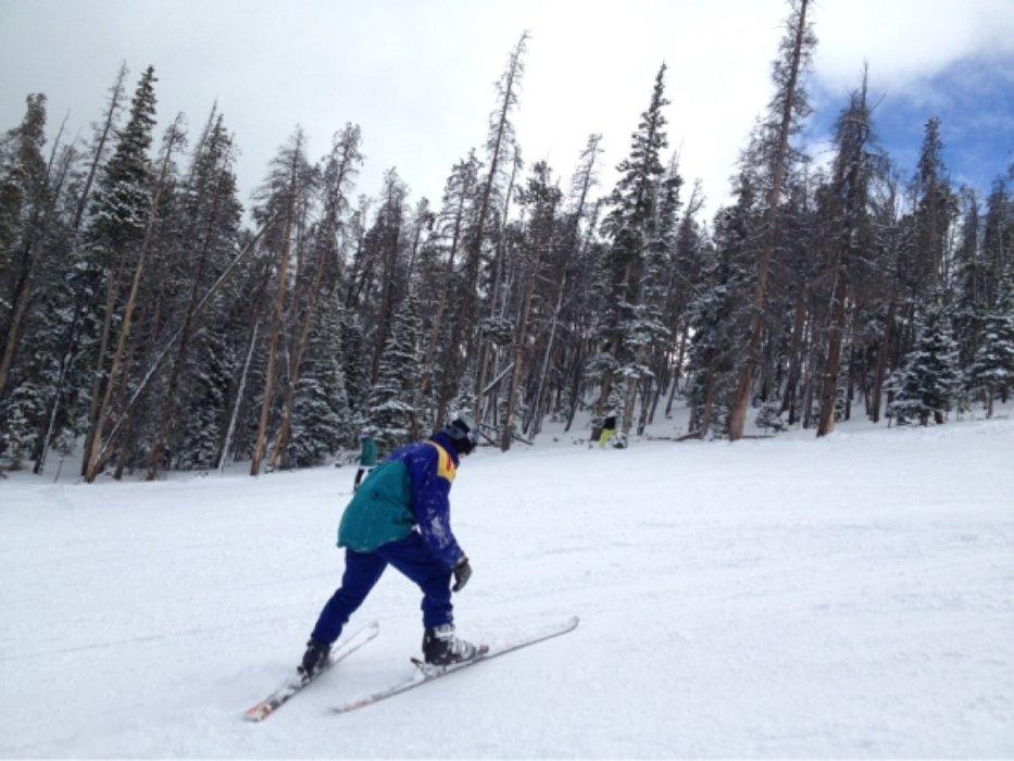 Shredding Breck..such deep pow pow