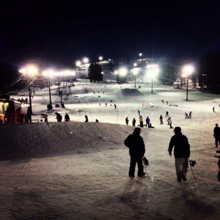 Night skiing at Boreal on black friday! Perfect day. Great machine made snow.