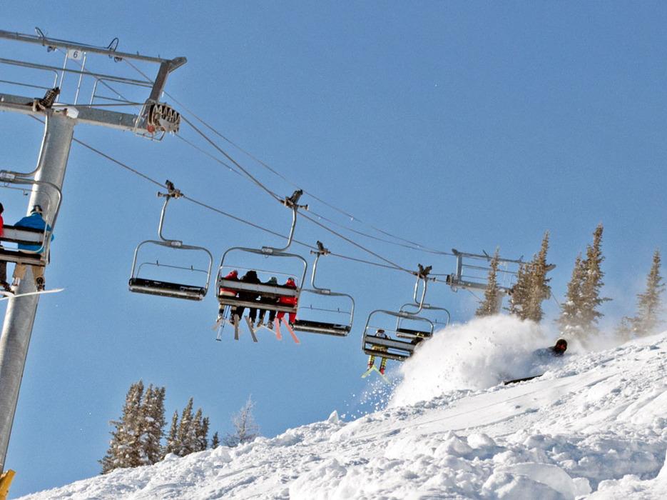 Sunshine Village on March 6, 2012. Photo by Shawn Alain courtesy of Ski Big Three