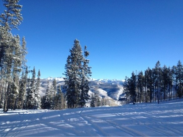 Blue skies and soft snow. Can't be beat.