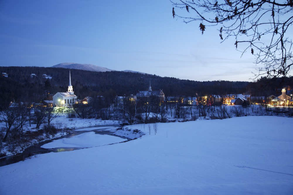 A view of Stowe Mountain Resort, Vermont