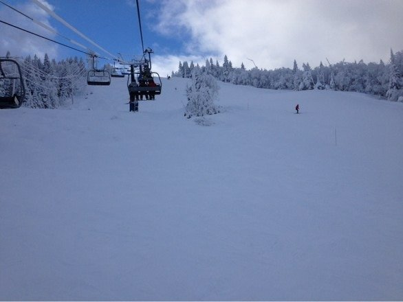 Great skiing for December. Some sections skied off, but great fun. Not crowded, except bottom.