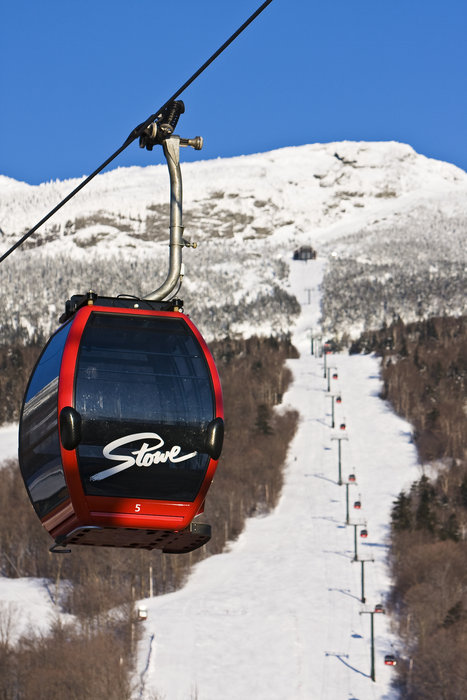 A view of a gondola at Stowe, Vermont