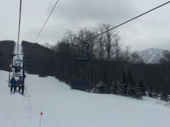 Great day skiing on some fresh powder at Smuggs. Still snowing when I left.