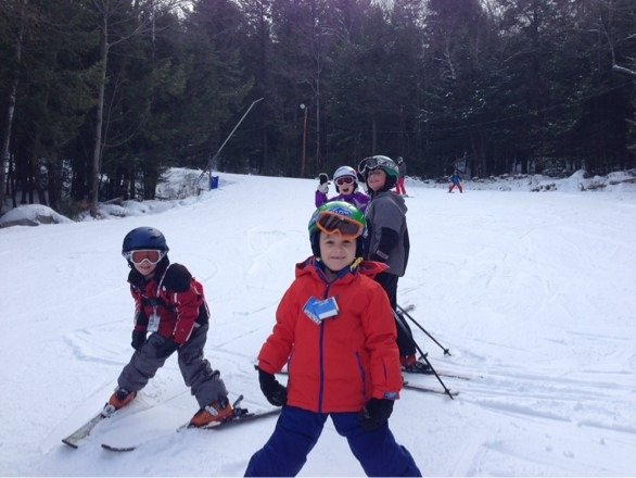 Another great day of skiing! Some ice, but it's New Hampshire in December.