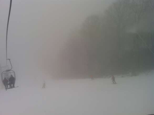 night ski is gonna be great, low visability though...