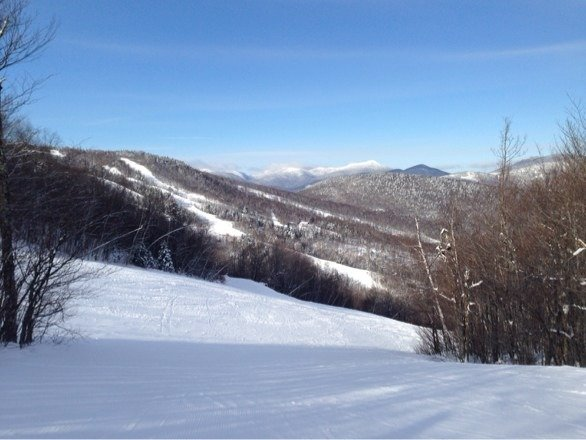 Beautiful today! Cold and windy, but otherwise great conditions. Nice fresh powder to kick off the weekend!