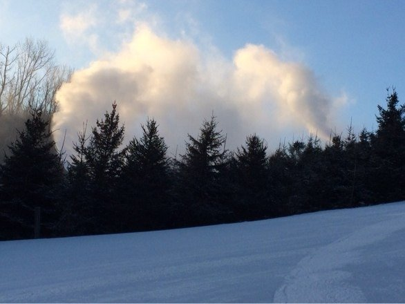 Cold smoke. Let the snowmaking guns roar. The Ski King