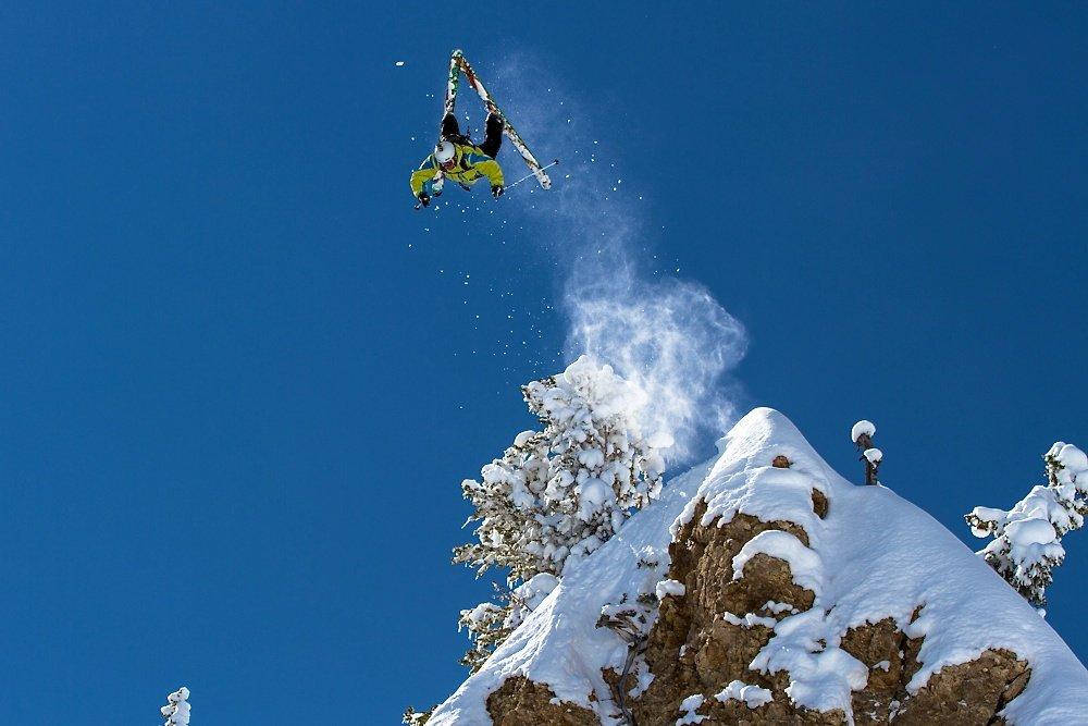 Kyle Sul sending a 50 foot front flip. Photo by Liam Doran - ©Liam Doran