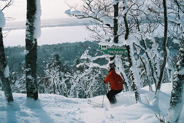 Powder glade skiing at Mount Bohemia - ©Michigan Snowsports Industries Association