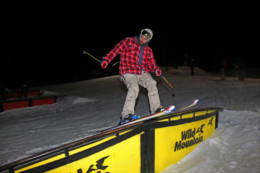 Dancing in the dark. - ©Wild Mountain Ski and Snowboard Area