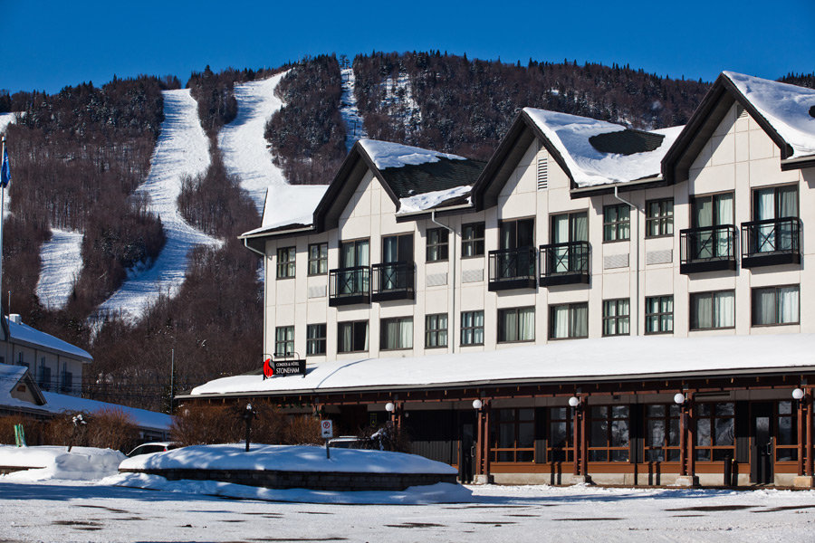 Slopeside lodging turns a ski trip into a ski experience at Stoneham.