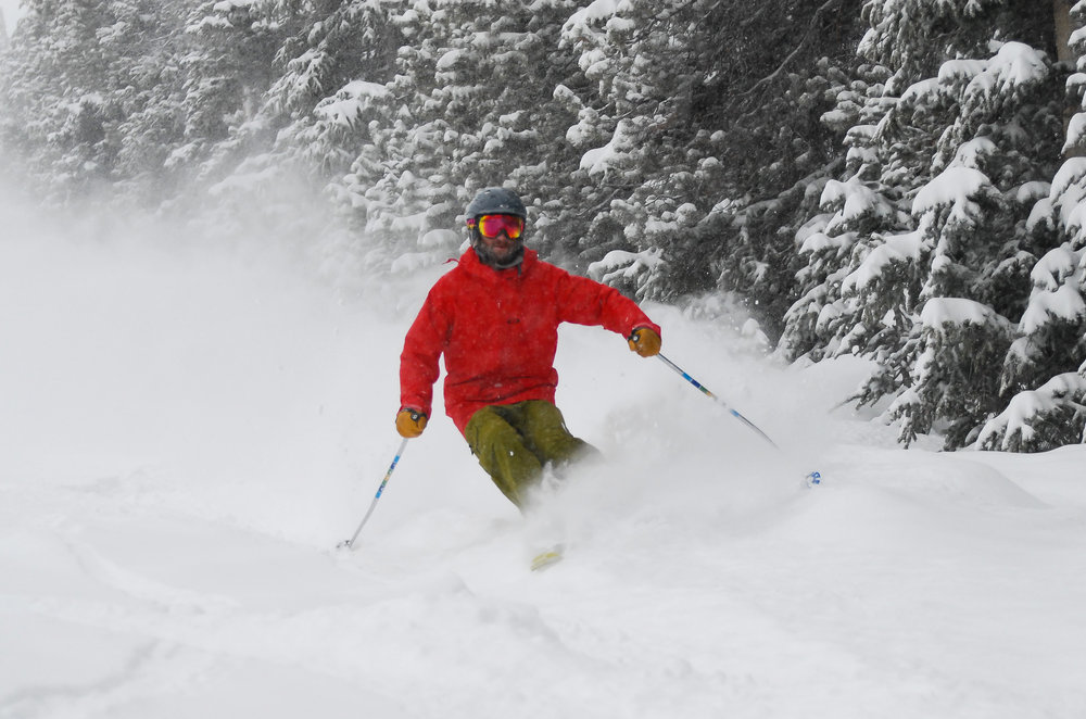 Skier gettin' some at Winter Park.