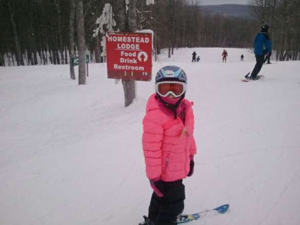 Her first time on lift and down Maple syrup  great day ! all staff is great ! meet so many nice people