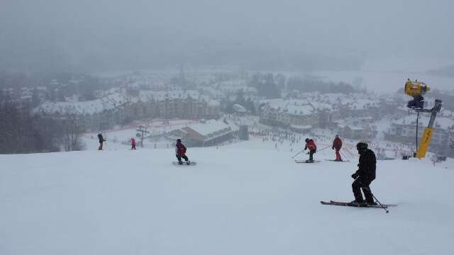 Awesome conditions. Hard pack with a few cms of freshness. Minor icy patches. Not very busy for a weekend day, no lines at soleil chair in the morning, TGV had virtually no lines in the afternoon. Nice fast carving day.