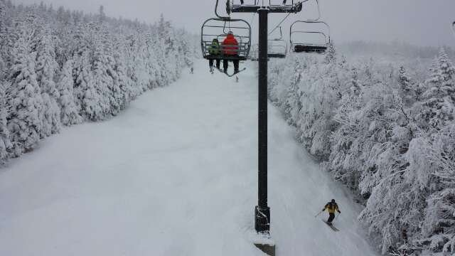 pretty good conditions like 60% open but the lines where so long over the weekend.