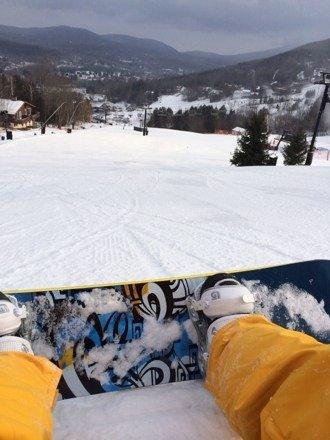 Good conditions today.  A little bit of ice in spots but overall pretty good.  Not too crowded either for a holiday weekend.  Can't wait to go back!