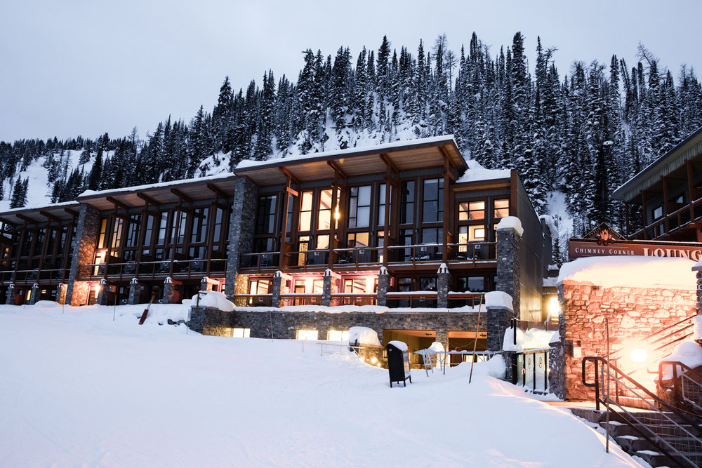 Slopeside accommodations at Sunshine Village. - ©Liam Doran