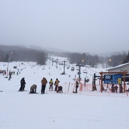 Good day! Snowed all day and the lines weren't too bad. Put that extra layer on.. It's freezing!!!