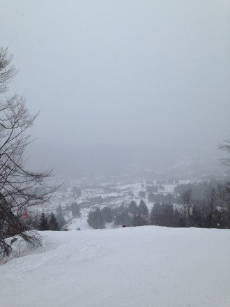 Great conditions today. Powder and new snow all day,especially the blacks