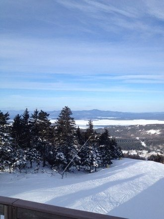 Awesome day at gunstock only a little icy on the blacks and some ice in the terrain park