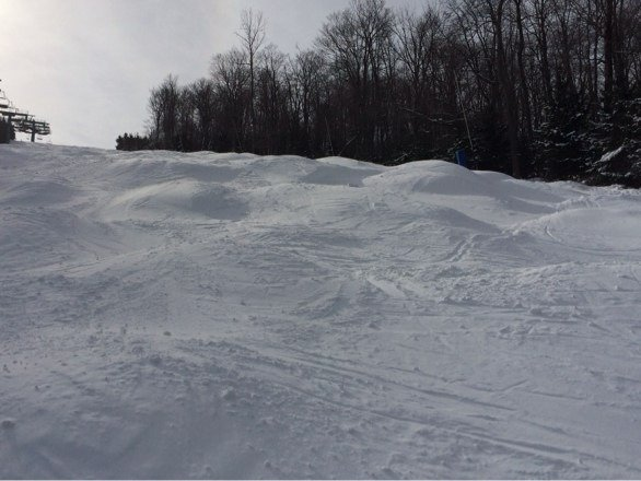 Tunk trail at its finest. Ski conditions at Elk are at a 10+.   The ski king
