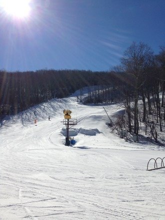 Beautiful day! Mountain is in great condition. No lift lines