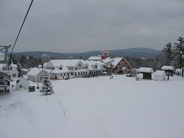 A view of the base at Ragged Mountain, New Hampshire