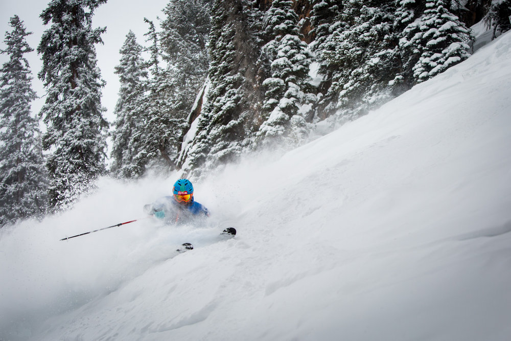 Slayin' the snow head-on. - ©Jeremy Swanson