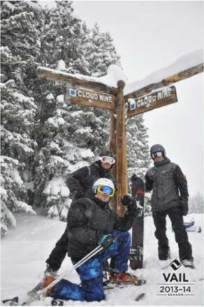 Yea at least 30''.we go big cause we can!  Hooo Raaa!  Vail,  nothing like it on earth!