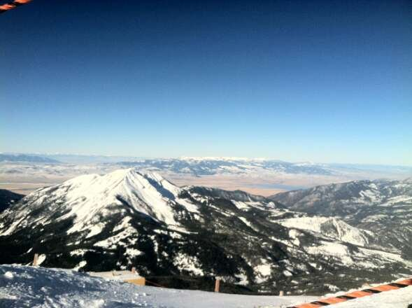 we went jan 18 and felt like spring skiing. beautiful view from lone peak