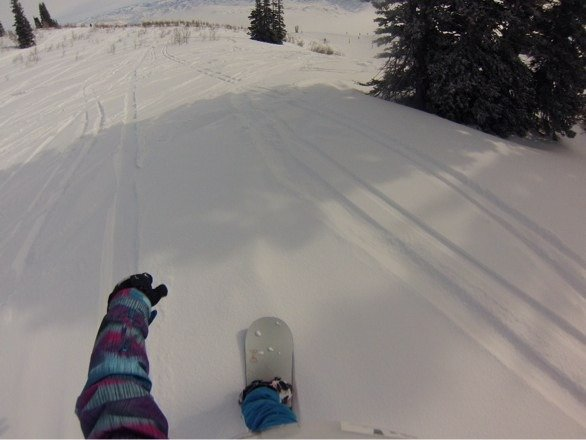 Great powder and snowfall, somewhat hard to see towards early morning, then cleared up!