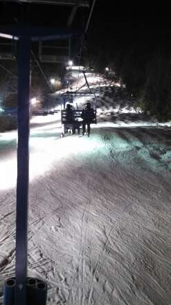 Great night skiing, no lines.