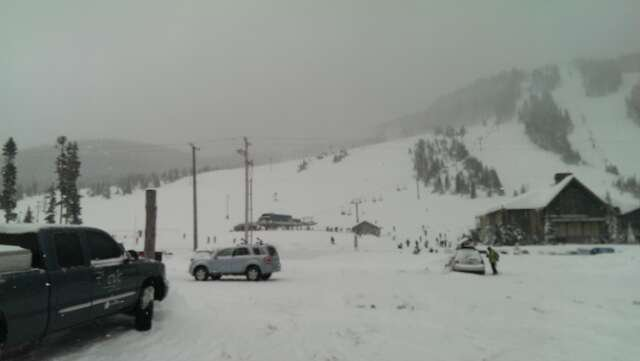 Snow was amazing!  Lots of powder. The back side trick park was closed. The lines were terrible, but the wait was worth it!