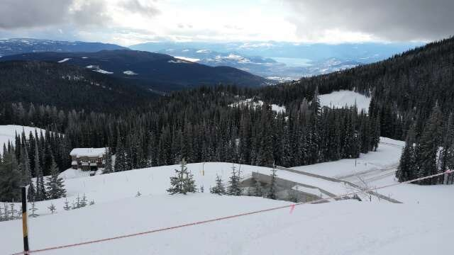 from good to great with the recent snow the last few days. photo looking down valley from Solitude on Monday.