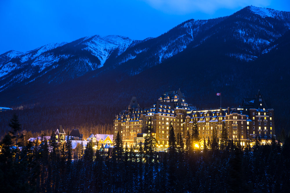 The fabulous Banff Springs Resort.