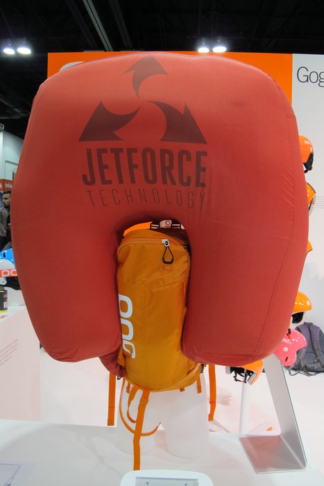 POC's Jetforce avy bag is battery powered and fan propelled, can deploy multiple times, inflates to protect the head and deflates to create an air pocket after three minutes. In a word, it's badass. - ©Heather B. Fried