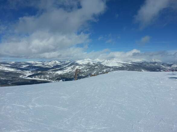 great day on Friday.  top of T bar.