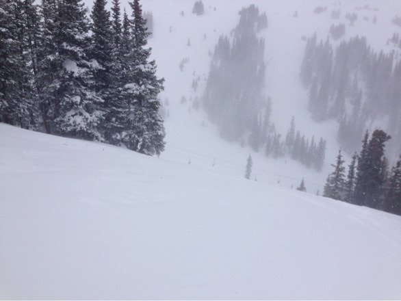 So super windy white out conditions at the top of lifts 4 and 8. 9 looked closed and no way would have tried it anyway. Stuck to lifts 2 and 6 most of the morning and in or near trees as visibility was horrible.