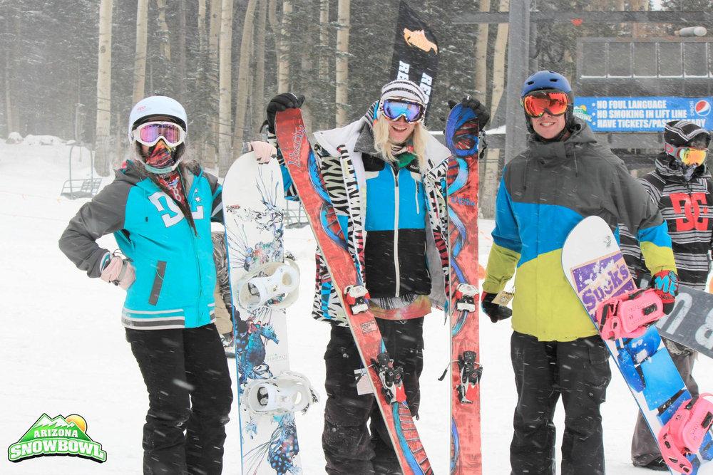 Snow and friends go together like PB&J at Arizona Snowbowl. - ©Courtesy of Arizona Snowbowl