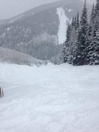 Great day at Canyons. Never stopped snowing.
