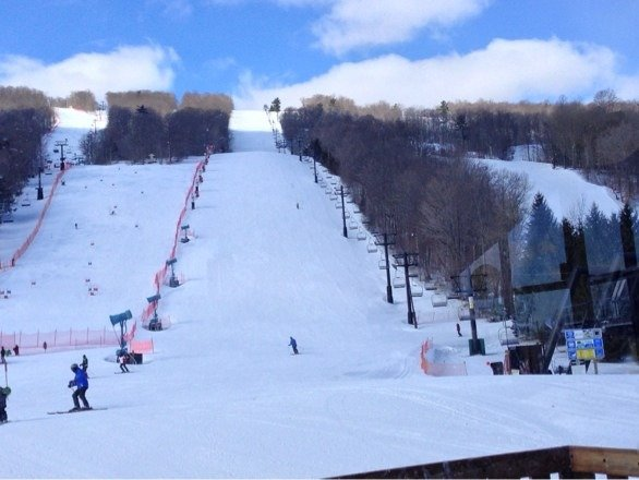 Great conditions at Bristol Mt. Ski right onto the lifts !