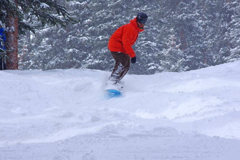 A snowboarder hits the powder at Arapahoe Basin. - ©Photo courtesy Arapahoe Basin Ski Area.