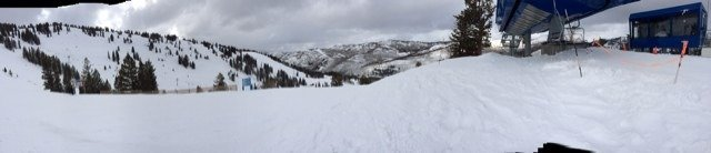 Perfect. Powder everywhere but shaved off on eagle lift