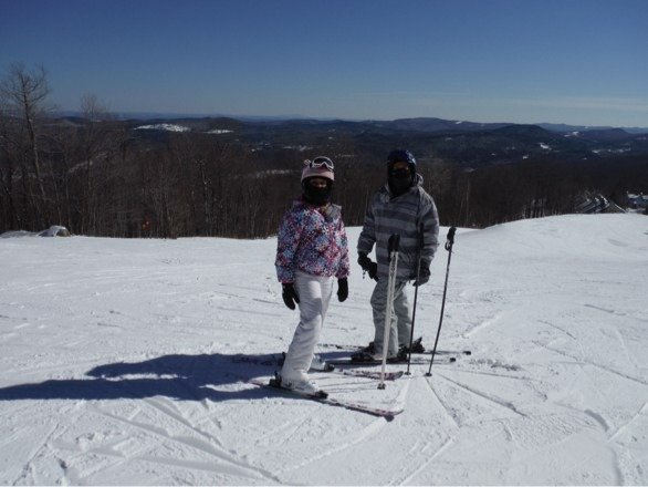 My daughter and I had a wonderful weekend on Okemo Mountain.  Great ski conditions with a light snow dusting.