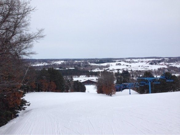 Received a couple of inches of snow yesterday making it a nice ski day today. Also free rentals on Tuesdays.